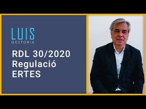 Noves mesures sobre els ERTO RD 30/2020