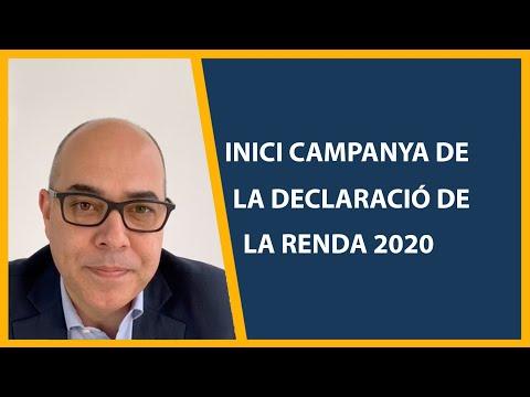 Inici campanya delcaració de la renda 2020