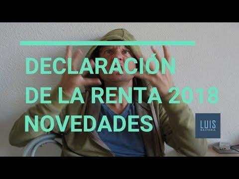 Novedades Declaración de la Renta 2018
