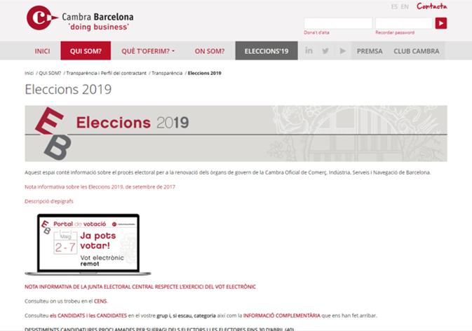 Eleccions Cambra De Comerç