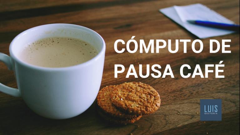 pausa café en la jornada de trabajo